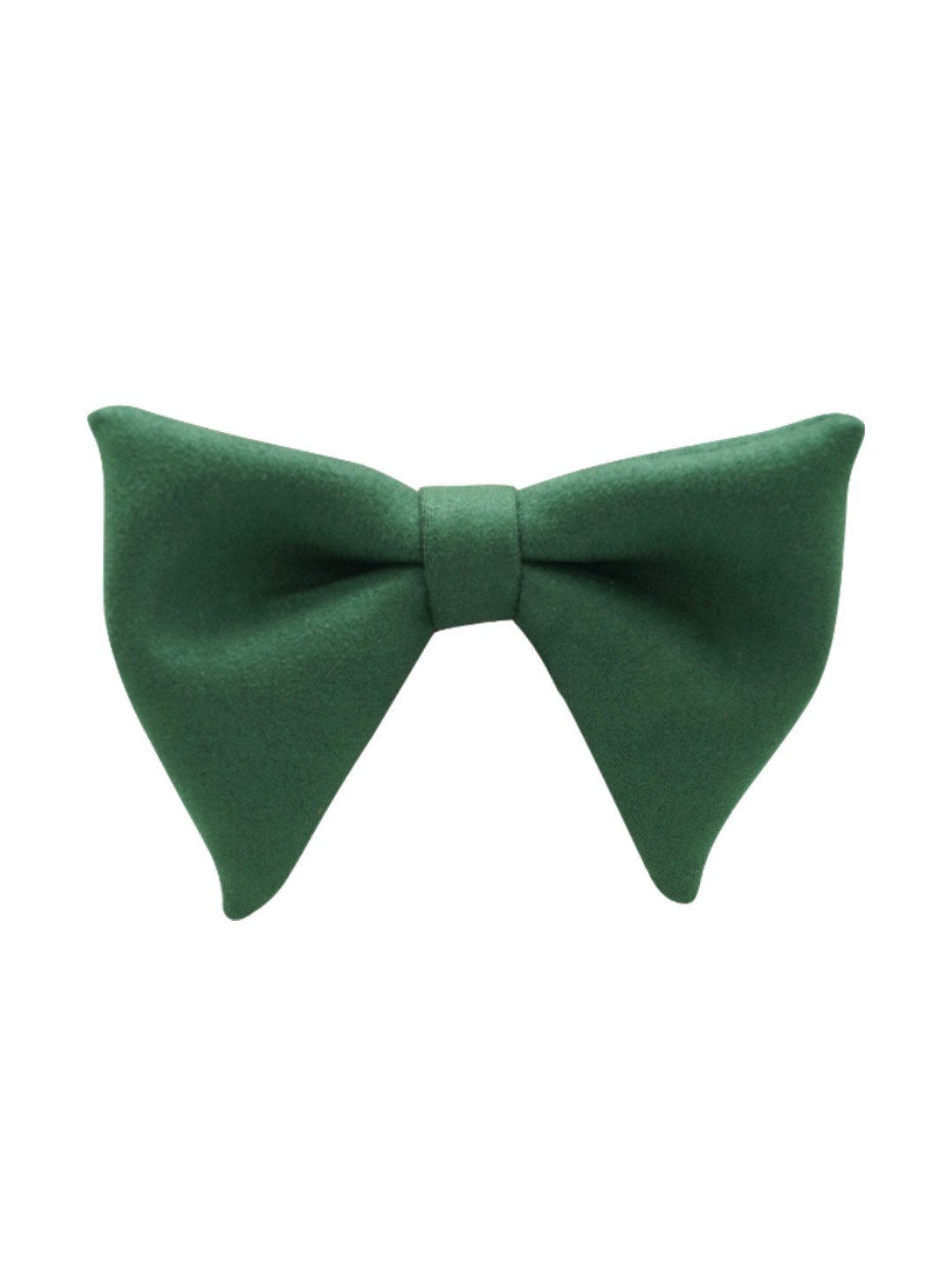 Solid Green Suede Butterfly Bow tie