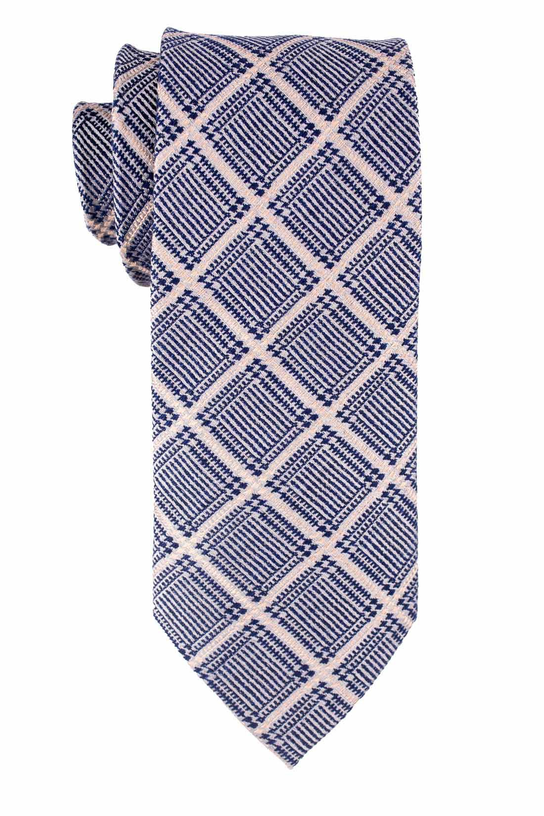 Blue And Grey Plaid Wool And Silk Necktie For Men By The Tie Hub