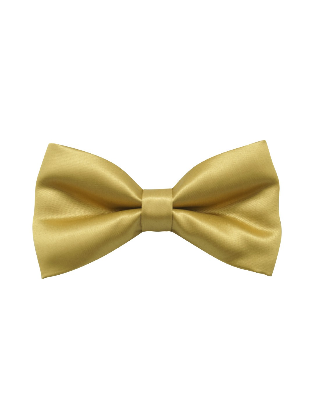 Gold Solid Microfiber Bow Tie