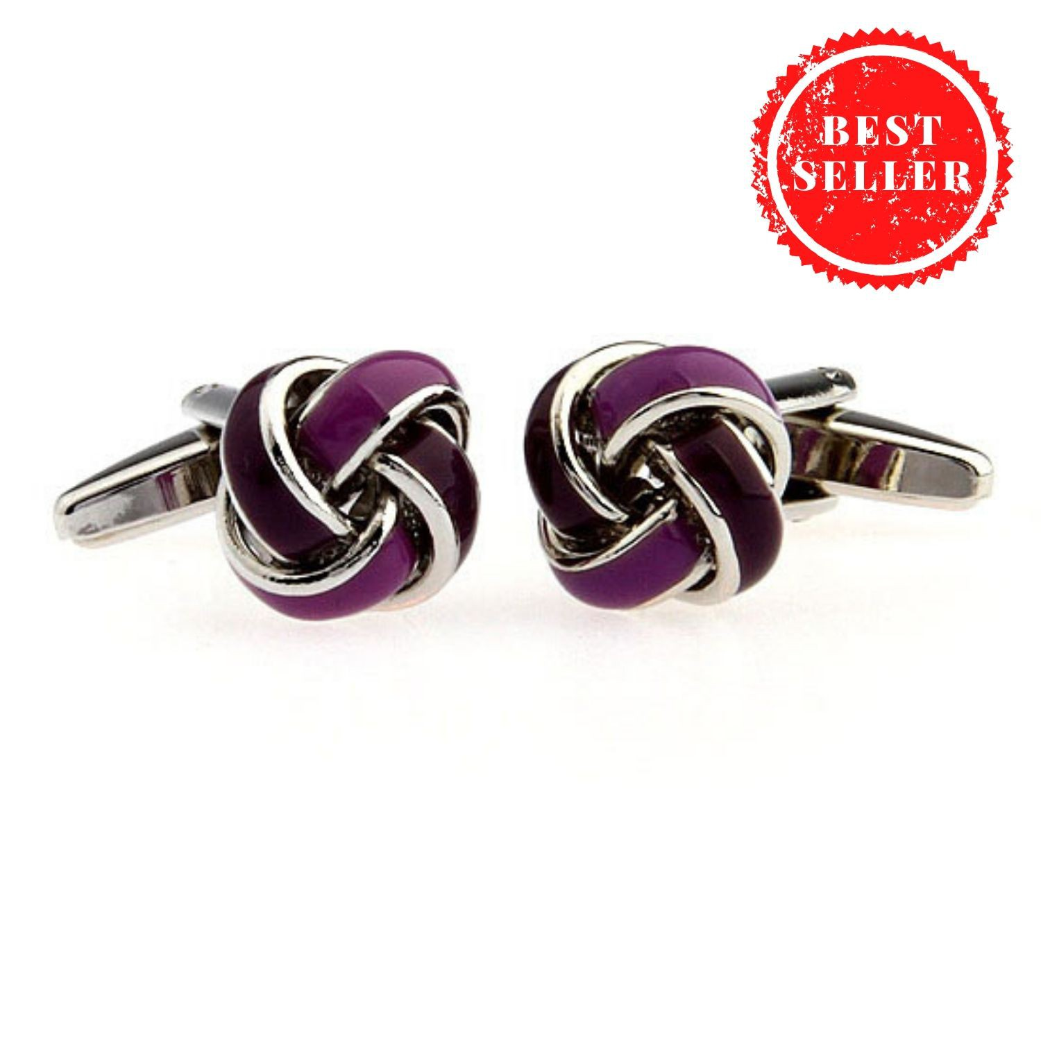 Purple Knots Cufflinks
