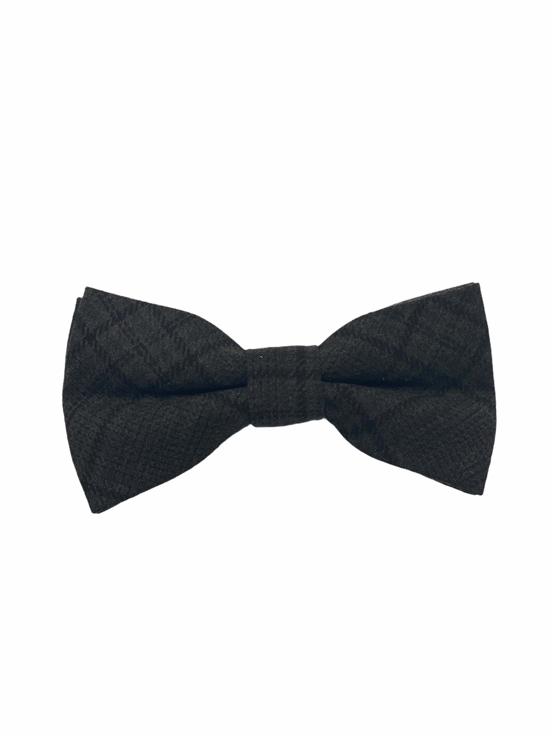 Houndstooth Brown Checkerd Silk and Wool Mix Bow Tie