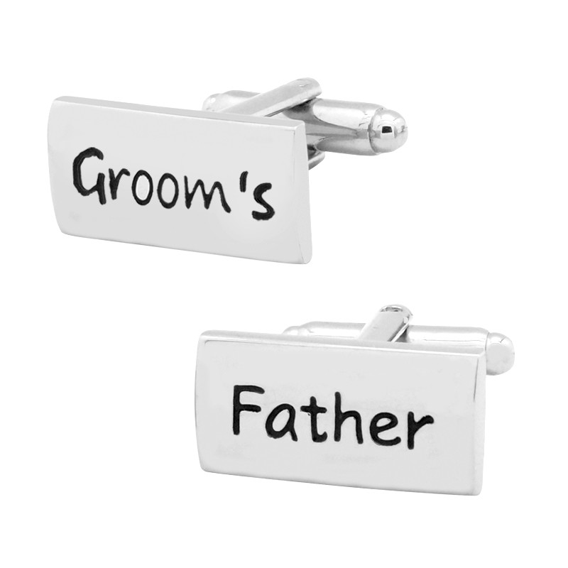 Grooms Father Personalized cufflinks
