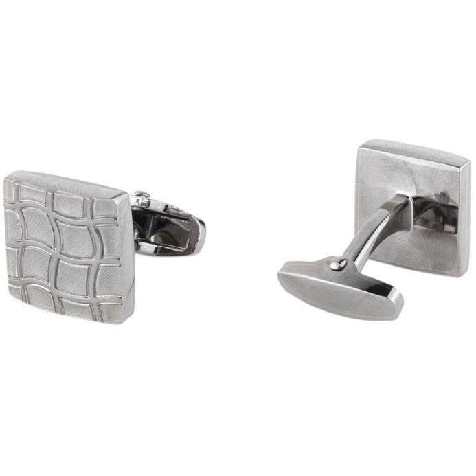 Crocodile skin Brass Cufflinks