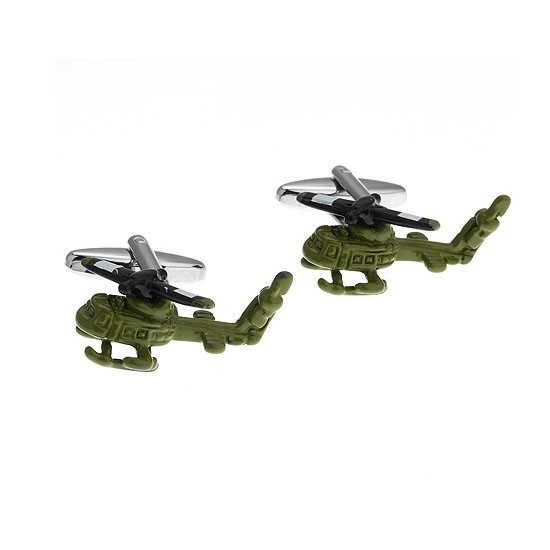 Army Helicopter Cufflinks for Men