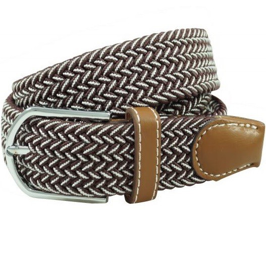 Braid - Burgundy/White (Belt)