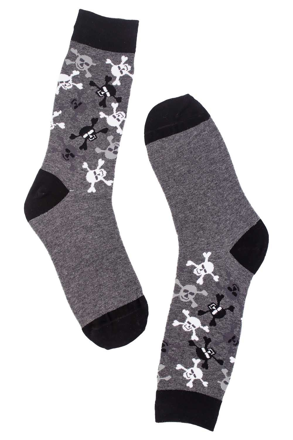 Danger Black and Grey Cotton Rich Socks
