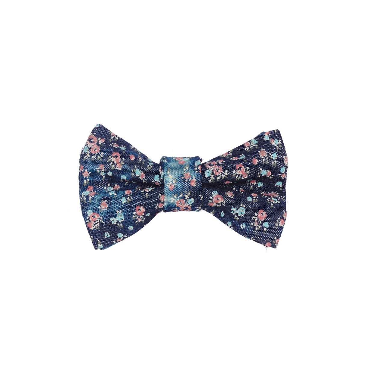 Faded floral Navy blue 100 % Cotton