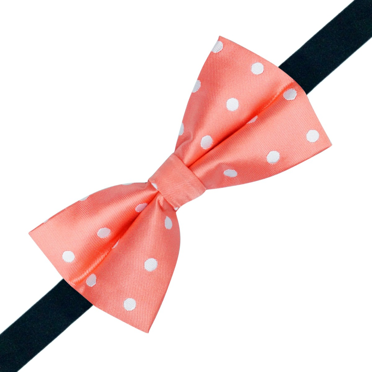 Westgate Pink with White Polka microfiber bow tie