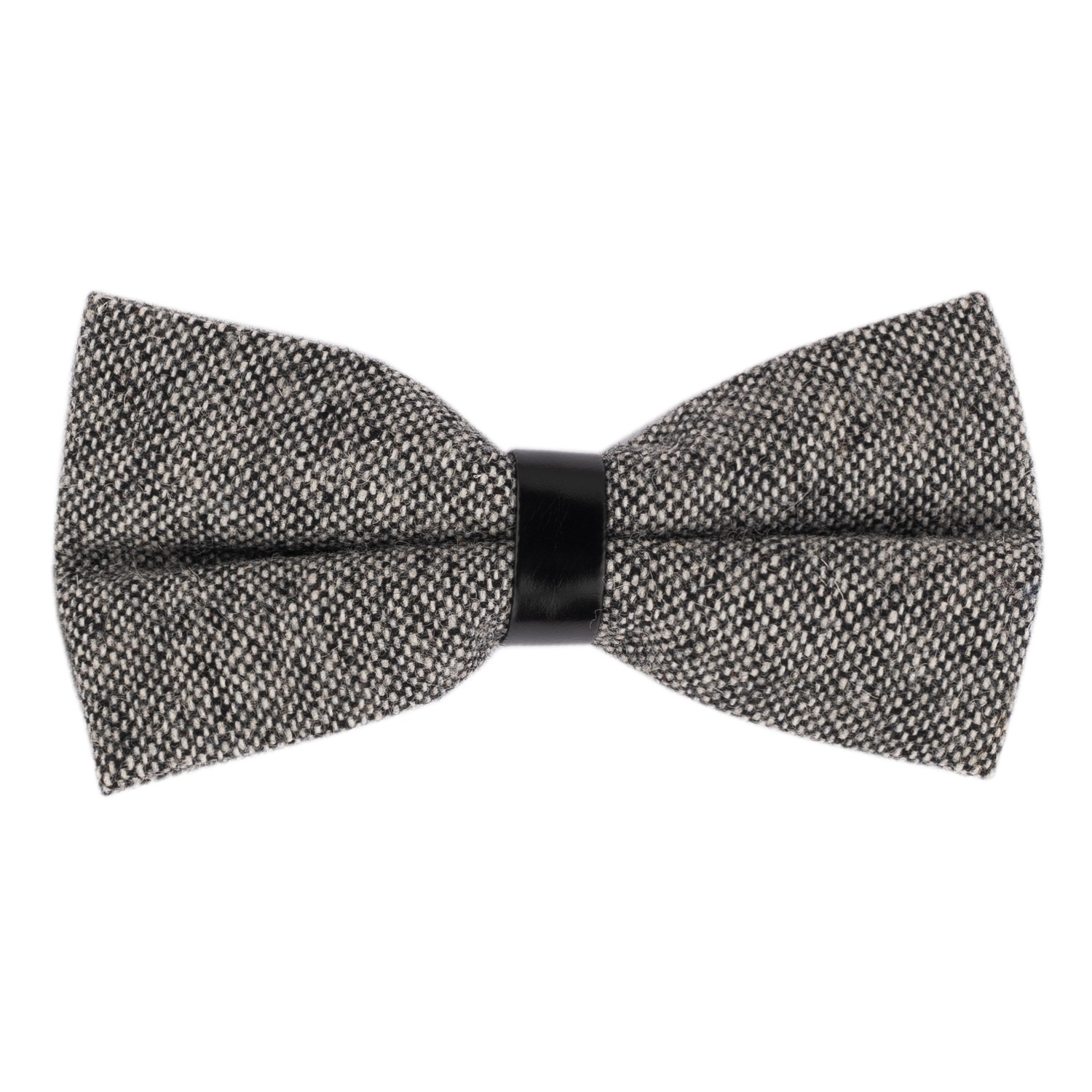 Dope Solid Grey Wool Bow Tie