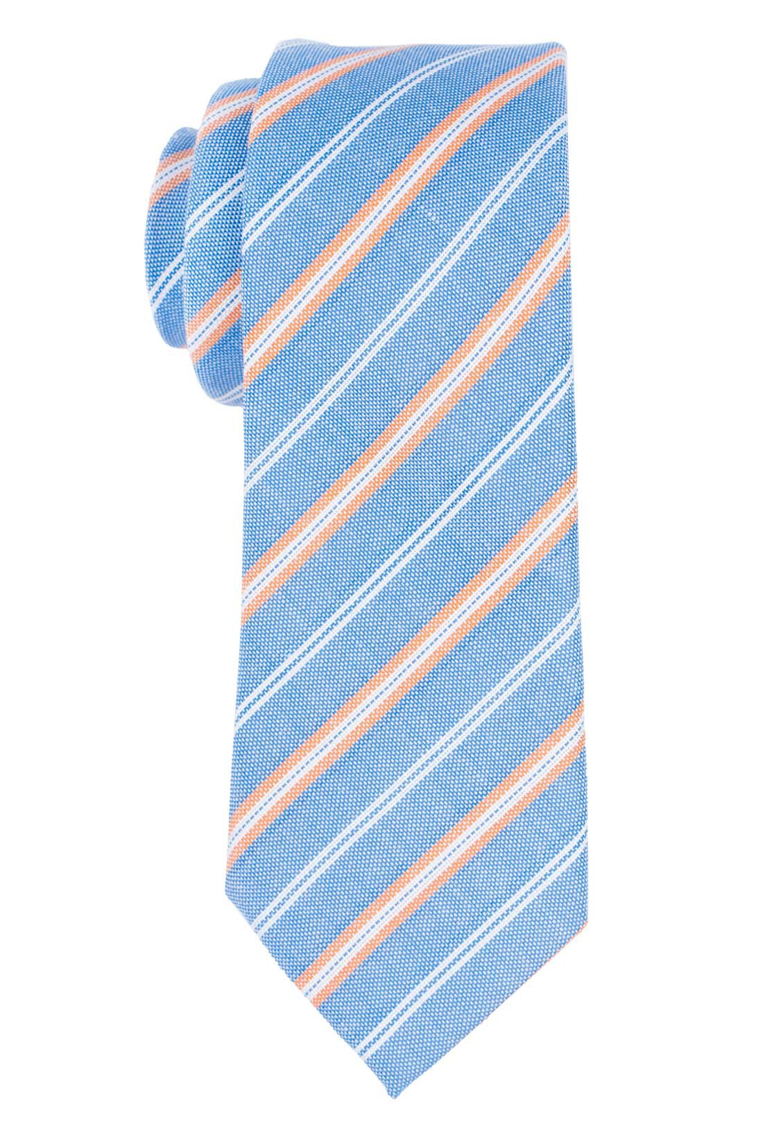 Rangle Sky Blue Stripe Necktie