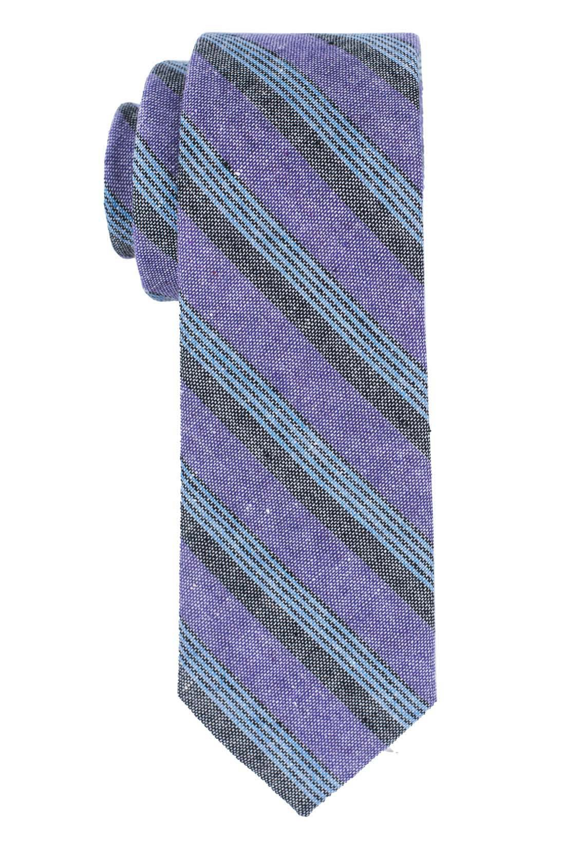 Marina Purple Stripe 100% Cotton Necktie
