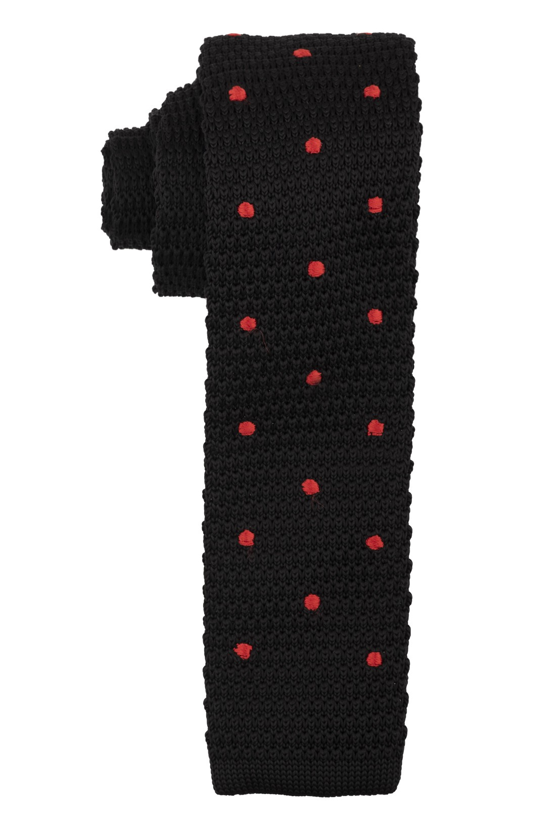 Sport Dots - Black Knitted Necktie by The Tie Hub