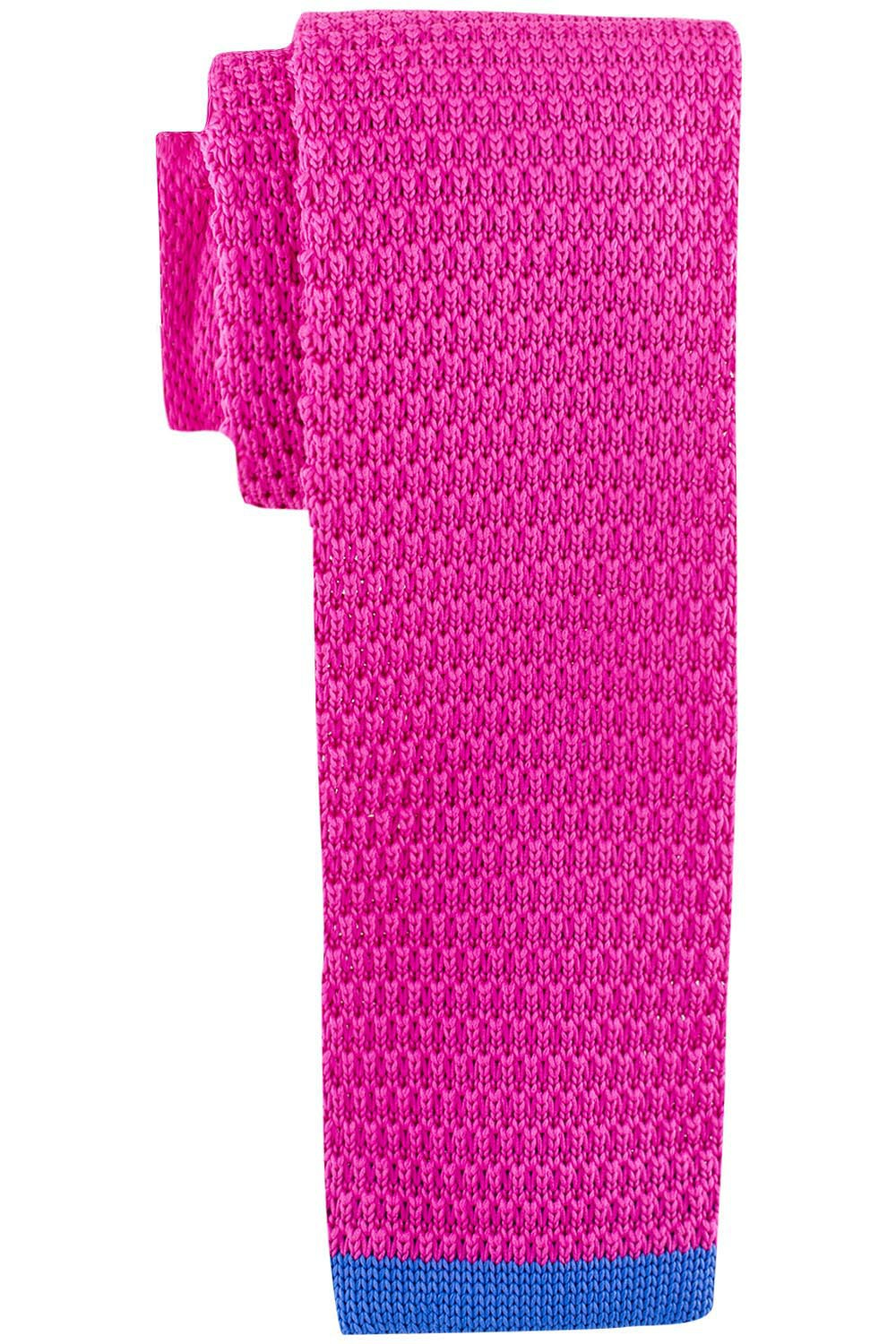 Wisteria Solid Pink Knitted Necktie by The Tie Hub