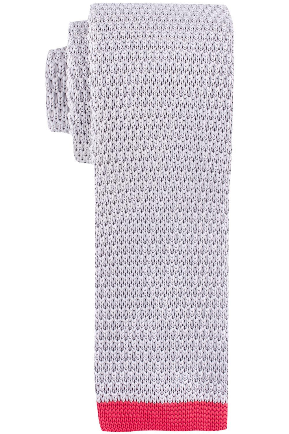Wisteria Solid Grey  Knitted Necktie