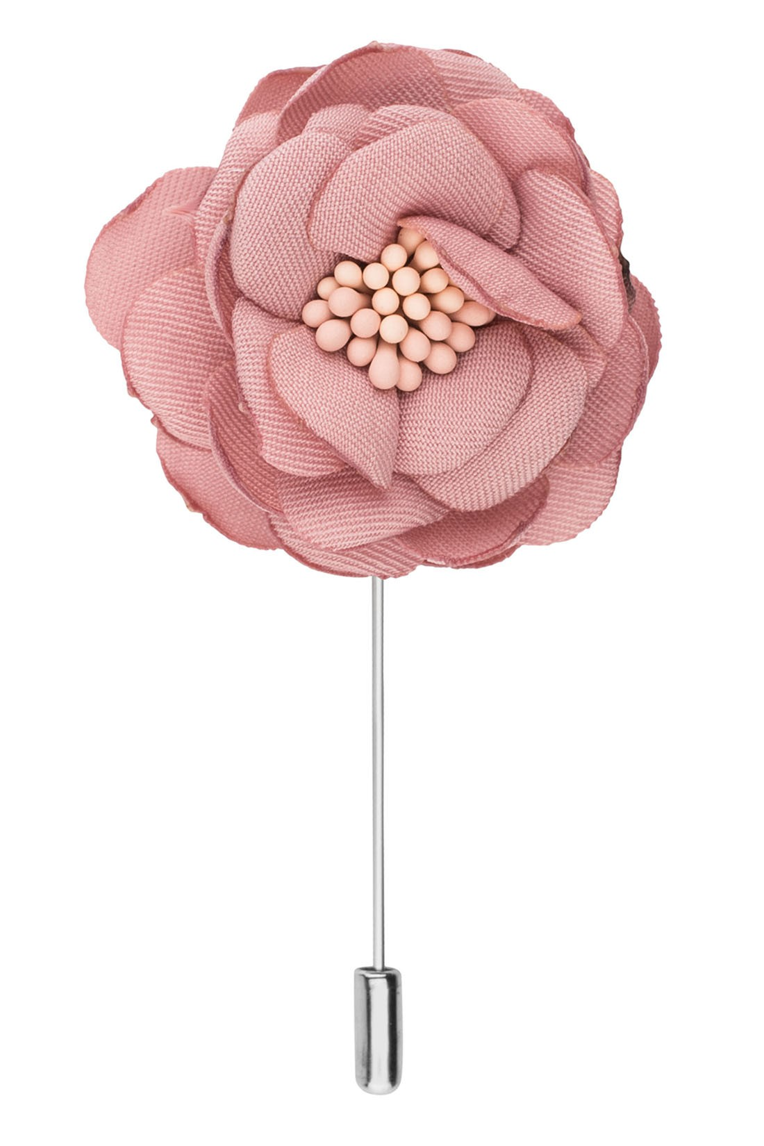 Ixora Flamingo Pink Flower Lapel Pin