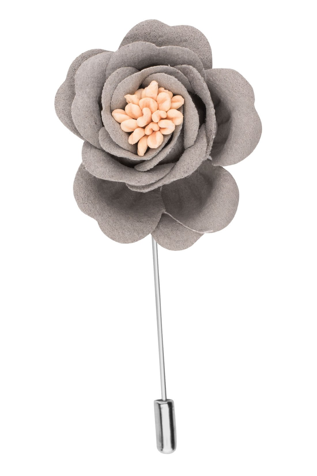 Rose Grey Flower Lapel pin