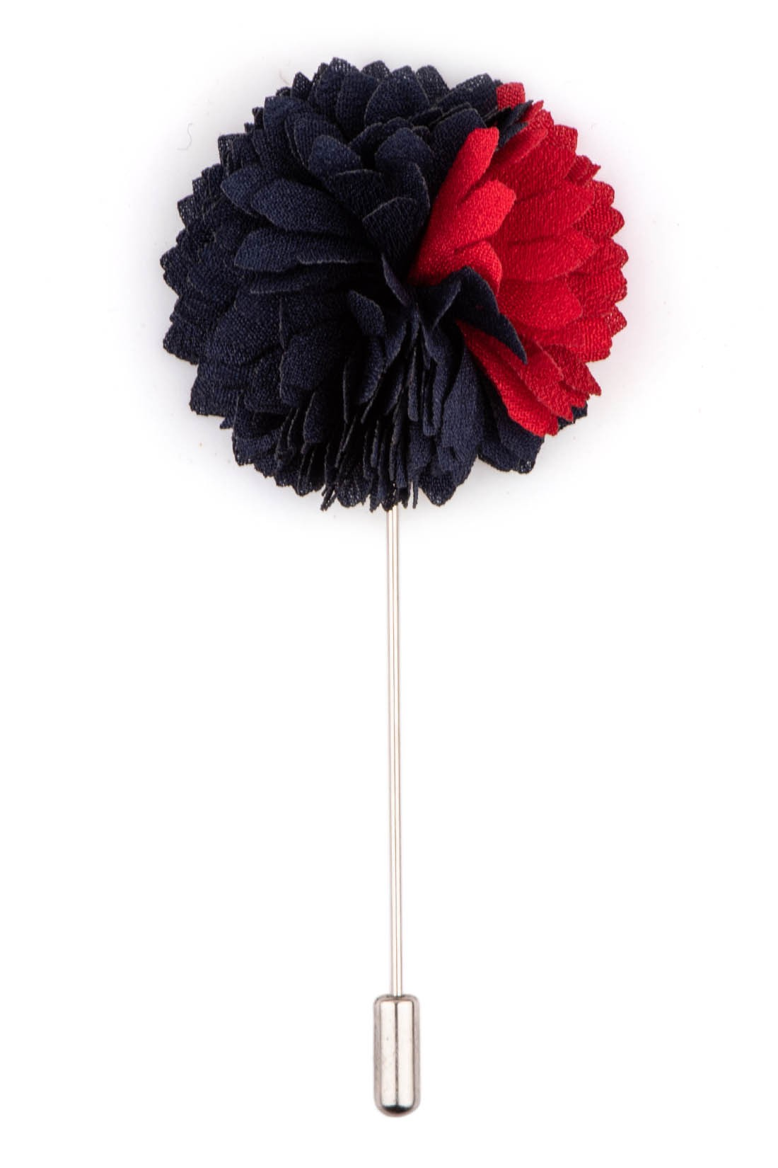 Blue/Red Shade Flower Lapel pin