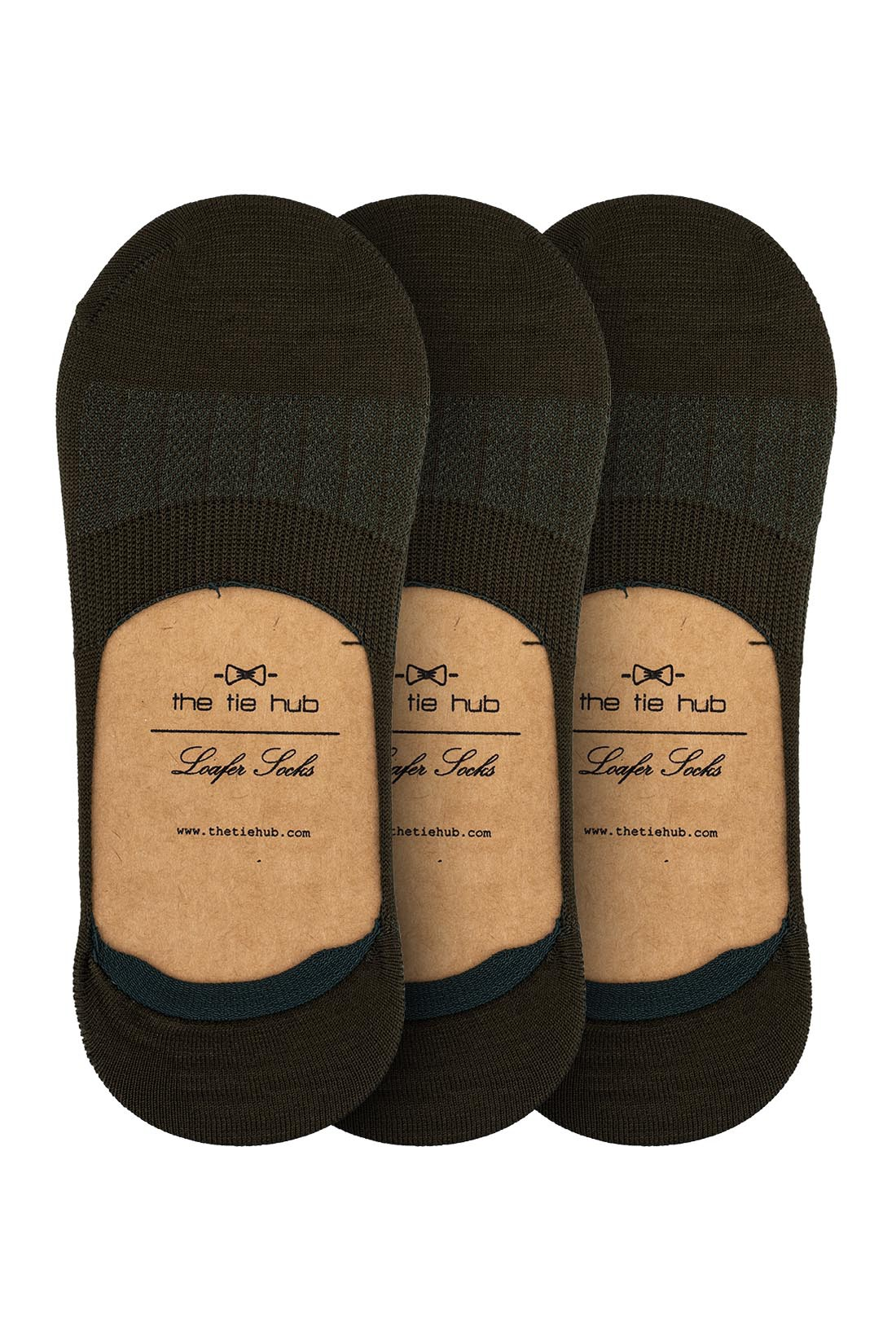 Pack of 3 Corty Solid Green Loafer Socks