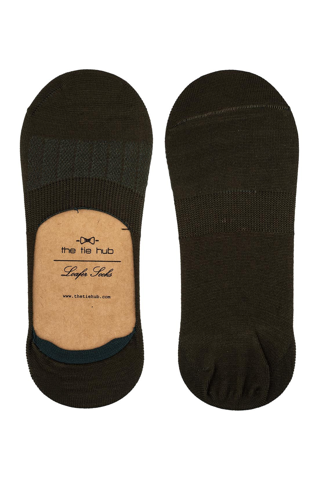Corty Solid Green Loafer Socks