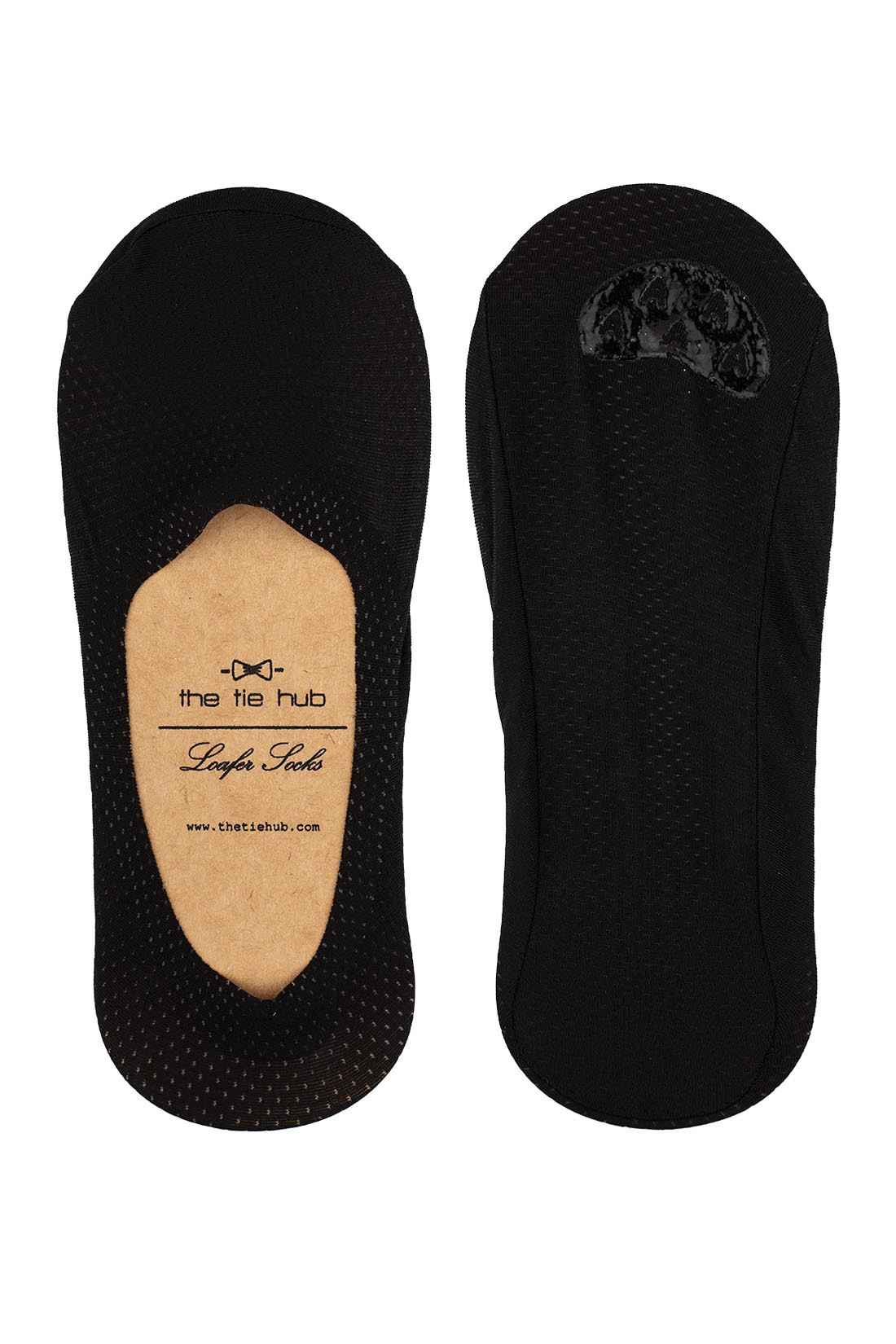 Breathable Black Loafer Socks - Silicon lining