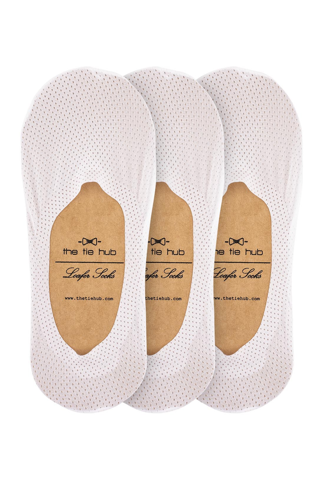 Breathable White Loafer Socks - Silicon lining Pack of 3