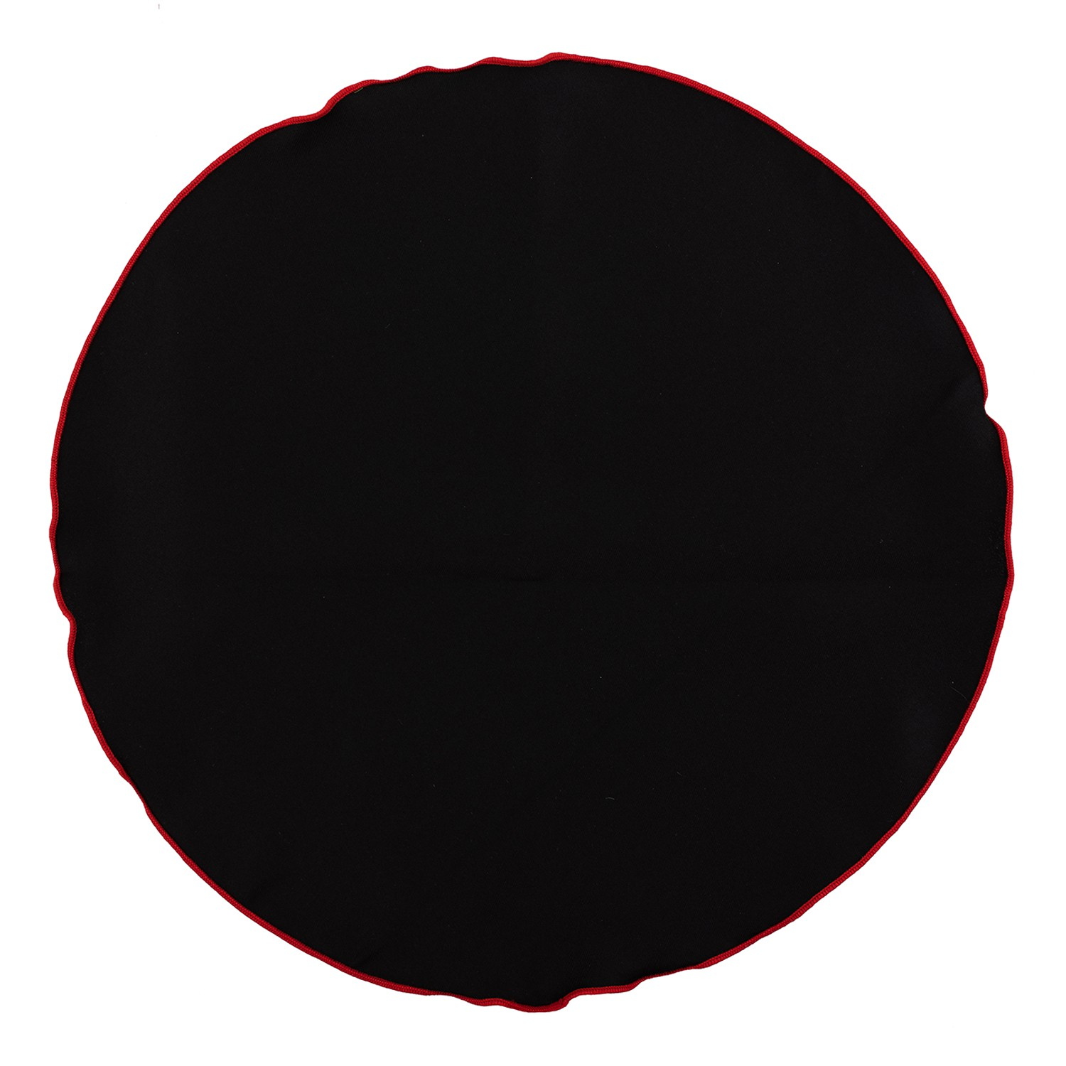 BLACK WITH RED BORDER POCKET CIRCULAR