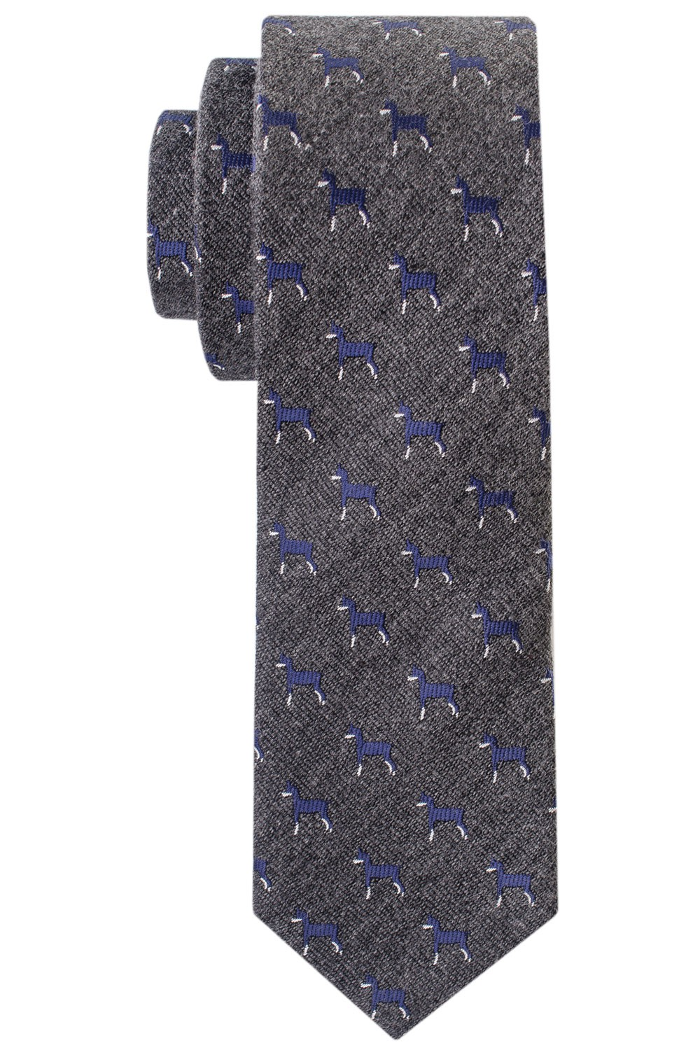 Dog Days Grey Woven Silk Necktie