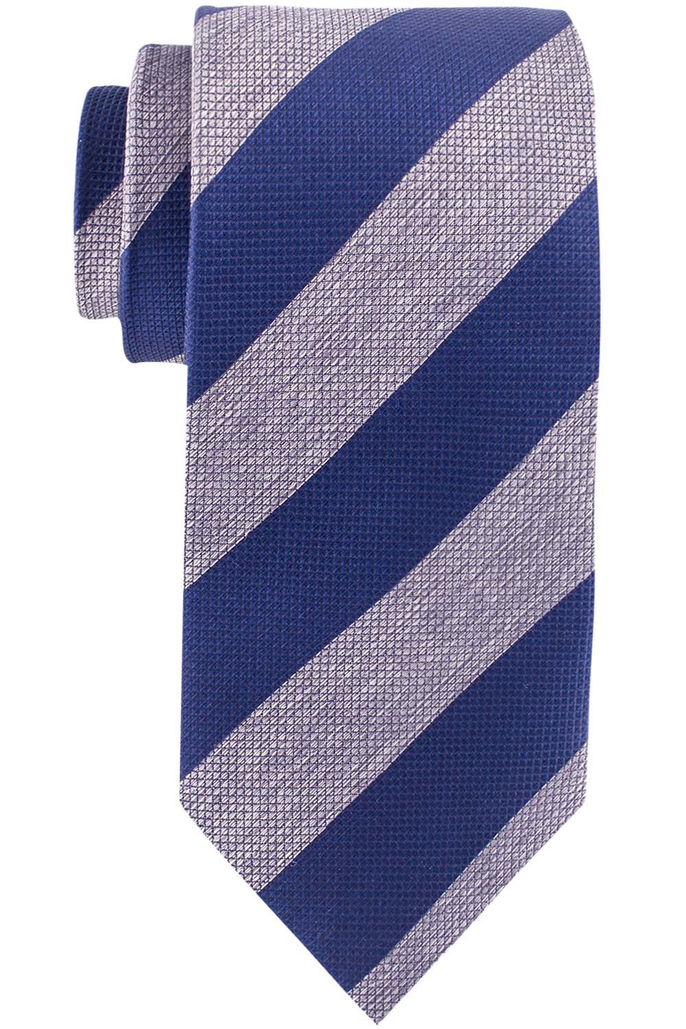 Club Blue And Grey Striped Necktie By The Tie Hub