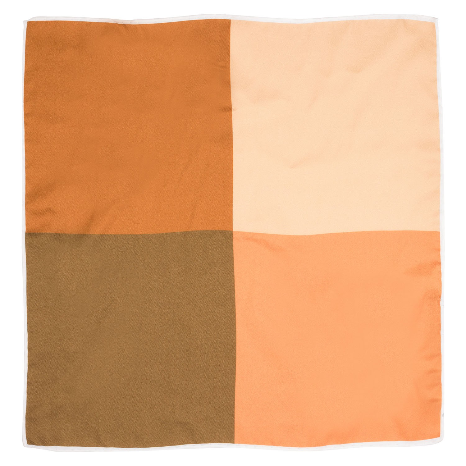 Four Square Solid  Silk Pocket Square For Men By The Tie Hub