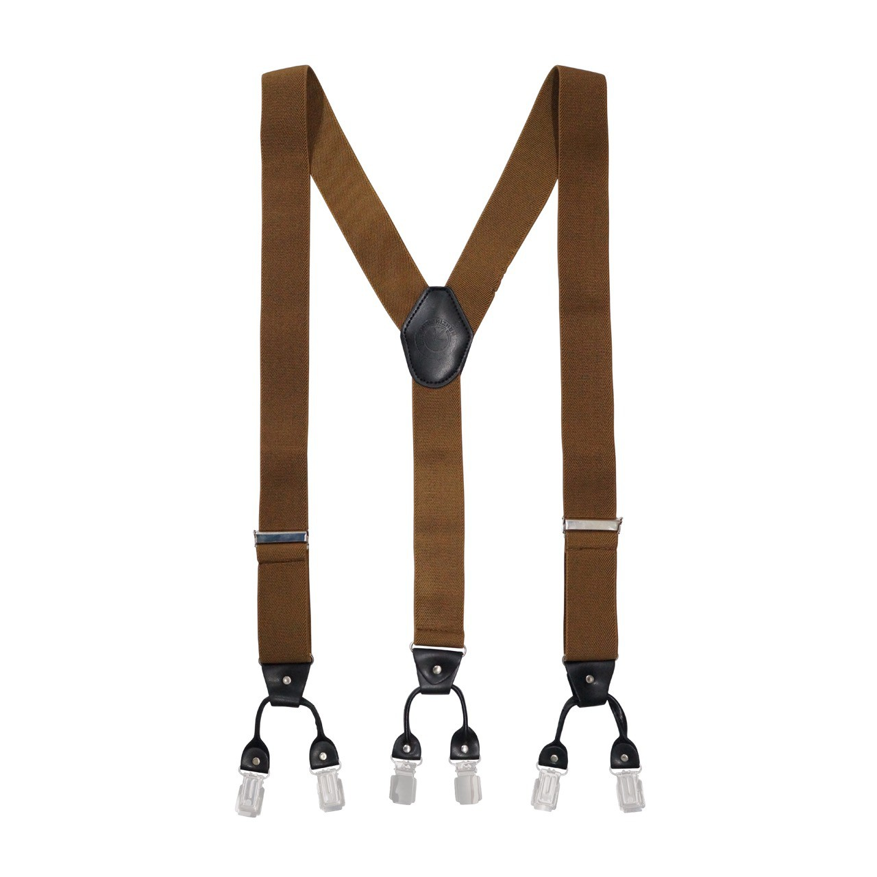 Booster Solid -Classic Brown Suspender ( Clip-on)