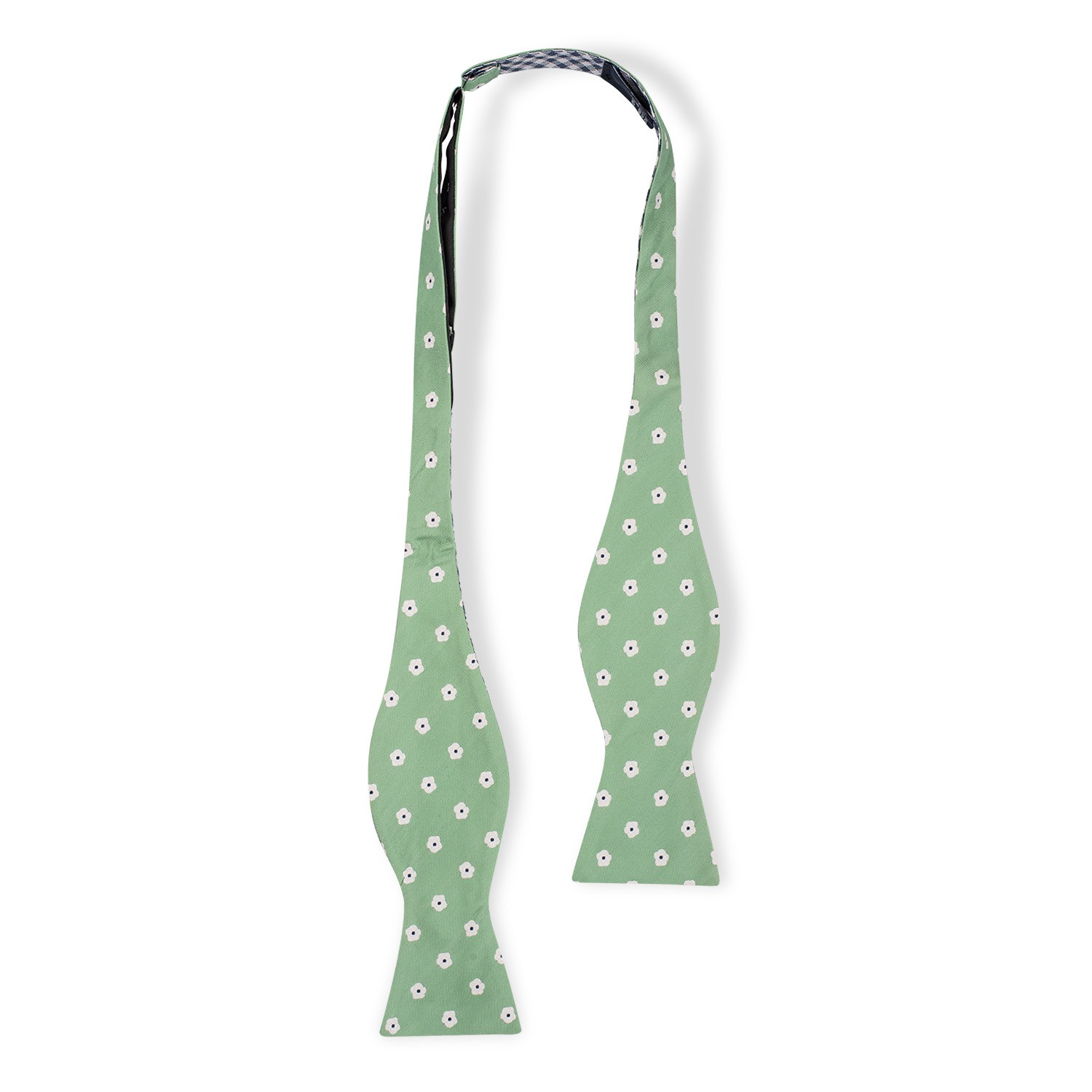 Wonder Floral Green Reversible Silk Self Tie Bow Tie