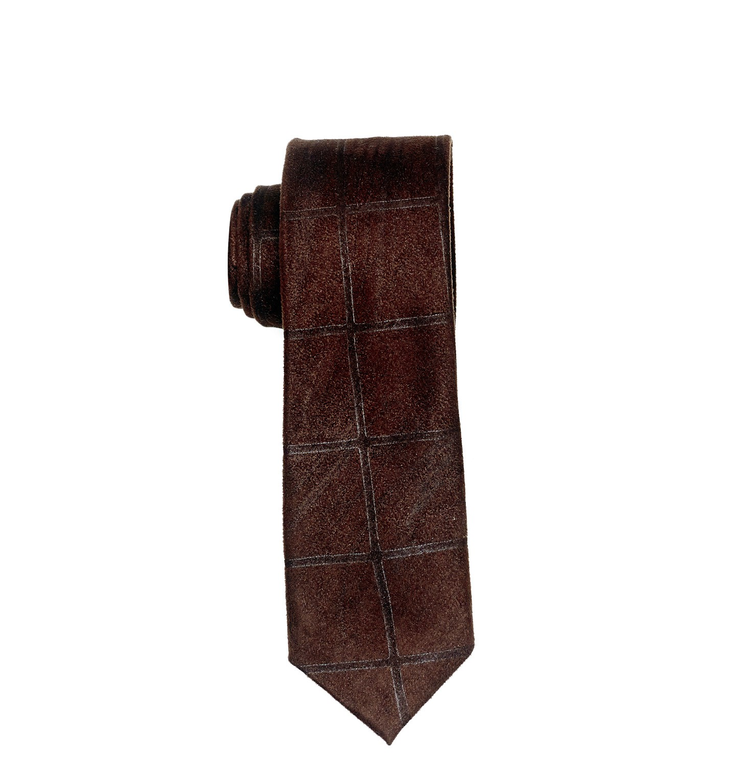 Diamond Dark Brown Suede Necktie by The Tie Hub
