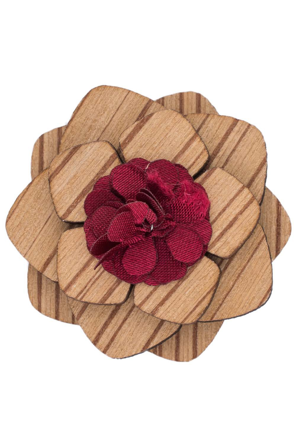 Lapel Pin - Red Cracker Wooden