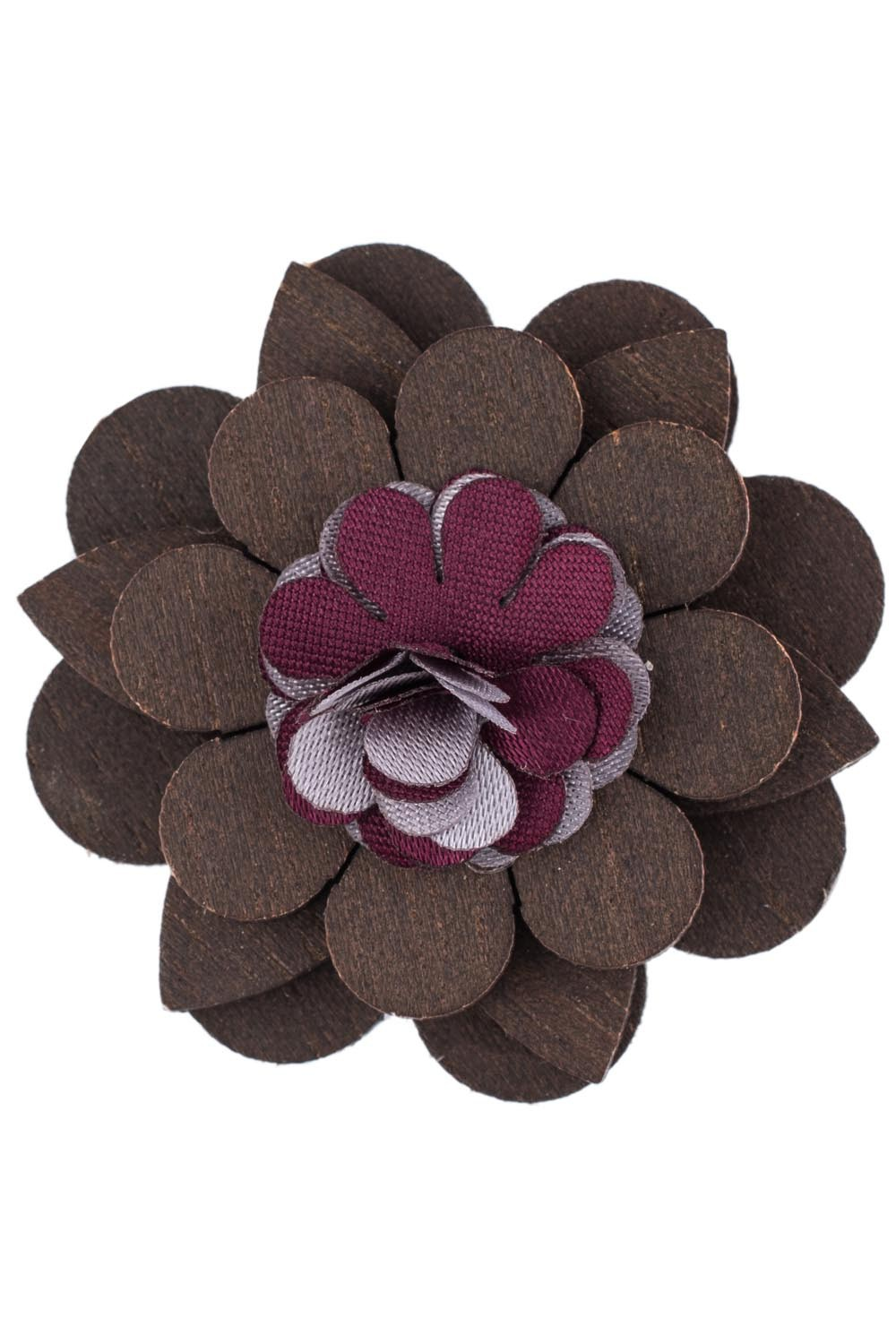 Lapel Pin - Purple Cracker Wooden