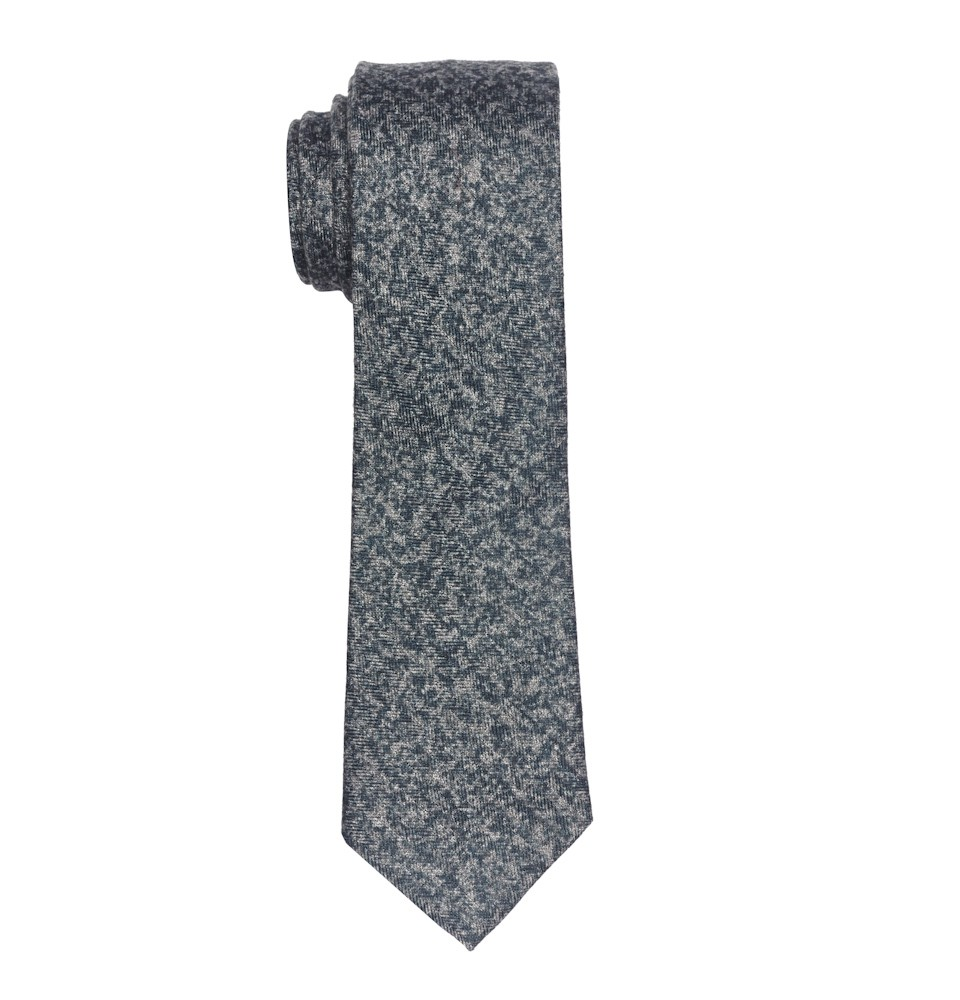 Majestic-Dark Grey Slim Handmade Wool and Silk Necktie