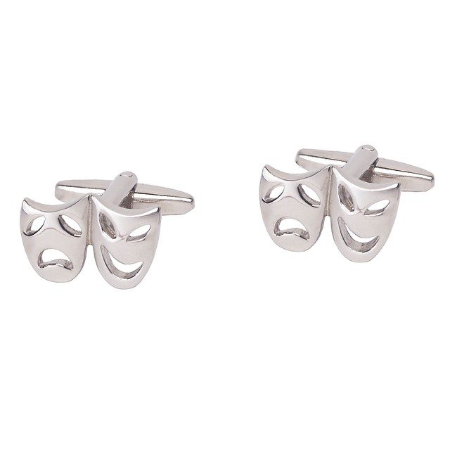 Laugh Now Cry Later Mask Cufflinks