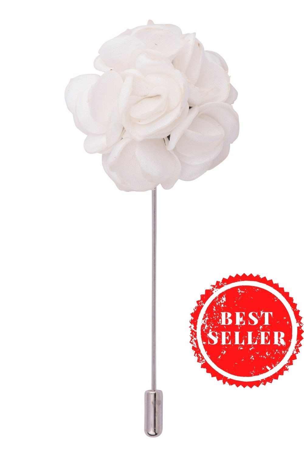 Viburnum White Flower Lapel Pin