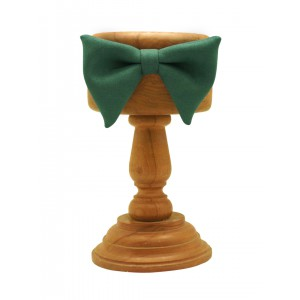 Green Suede Butterfly Bow tie