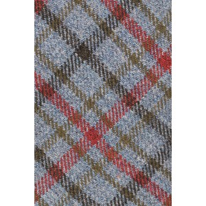 Mossoni Grey Checkered Wool Necktie