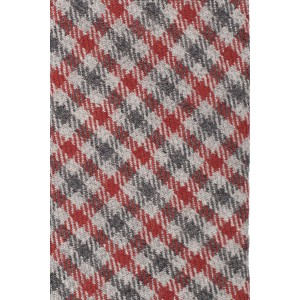 Sotto Grey and Maroon Checkered  Wool Neck Tie