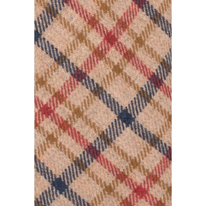 Biella Brown Checkered Wool Neck Tie