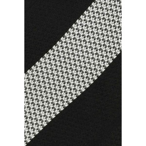 Dual Black And Grey Stripe Necktie