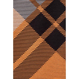 Orange and Black Plaid Silk Necktie