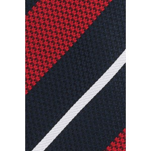 Union Red And Blue Stripe Microfiber Necktie