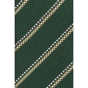 Tropical Green Striped Microfiber Necktie