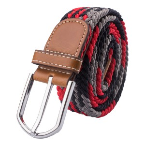 Mink Red Elasticated Woven Belt