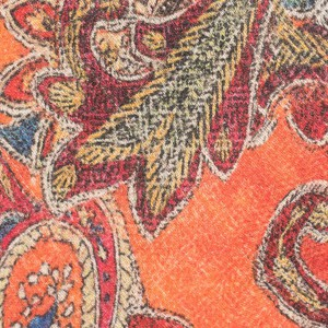 Paisley Orange Pashmina Necktie