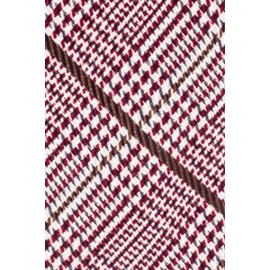 Maroon And Brown Geometric Necktie In Wool And Silk By The Tie Hub