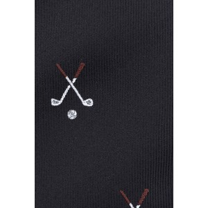 Golf Black Microfiber Necktie