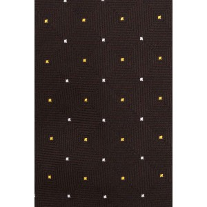 Janson Multi Dotts Brown Microfiber Necktie
